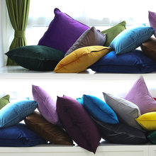 Piping Design Multicolor Yellow Blue Green Red Velvet Cushion Cover Pillow Case Soft Pillow Cover No Balling-up Without Stuffing(China)