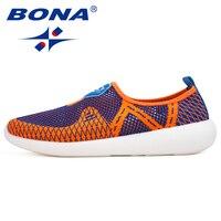 BONA New Popular Style Men Walking Shoes Mesh Men Athletic Shoes Outdoor Jogging Sneakers Comfortable Men Shoes Free Shipping