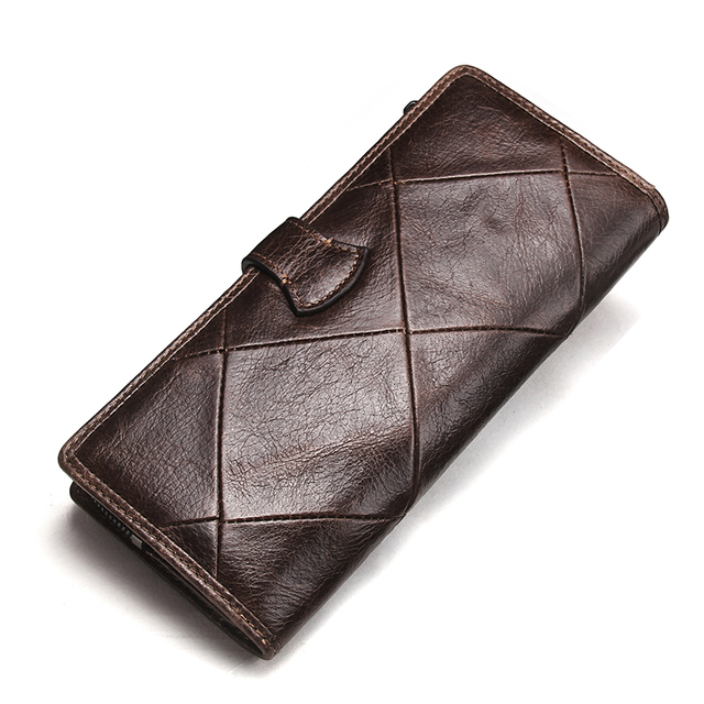 CONTACT'S New Fashion Men Wallet Long Genuine Leather For Male Luxury Brand Purses and Female Clutch Wallets With Coin Pockets 1