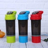 Esportes de fitness garrafa de água proteína shaker garrafa 550 ml bpa livre portátil à prova vazamento ginásio treinamento ao ar livre garrafa de bebida