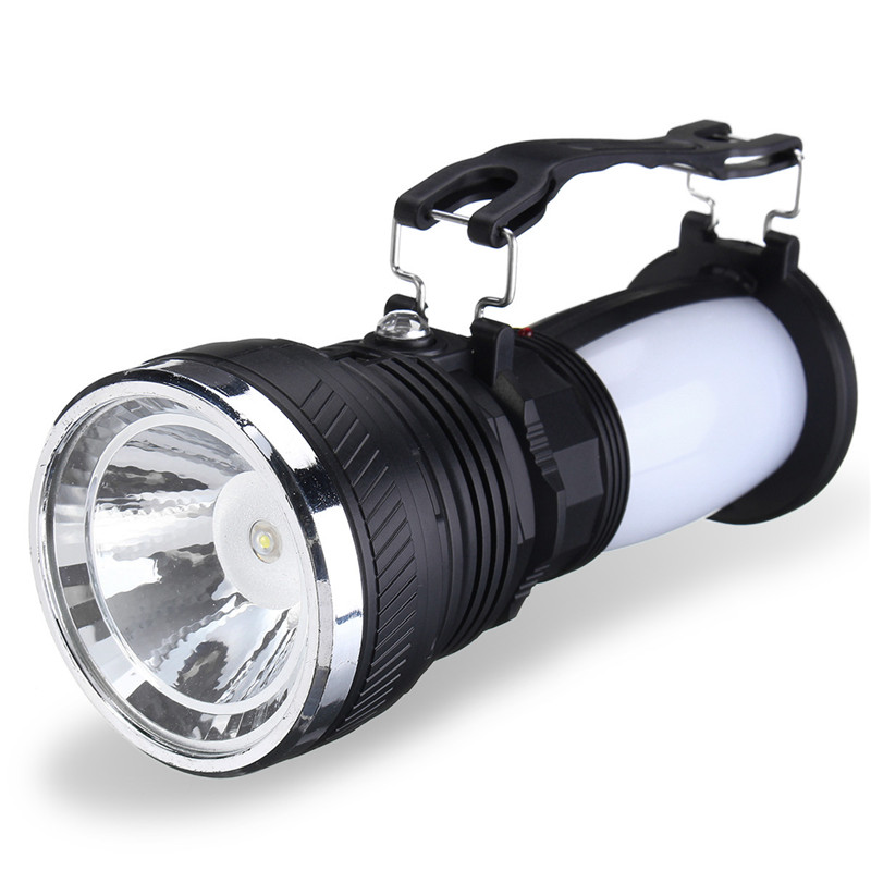Portable LED Flashlight Led Lanterns Light Solar Power Rechargeable Battery Camping Tent Light Lantern Camping Lamp