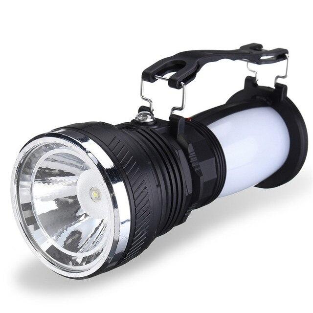 Tragbare Led taschenlampe Laternen Licht Solar Power Akku Camping ...