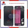Высокое качество Для IPhone 6 Plus Полный Жилищно Ассамблея Задняя Крышка Батареи с Sim-карты Лоток + Кнопки + Flex Кабели
