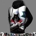Invierno de La Manera 3D Impreso Pullover Escudo Assassins Creed Assassins Creed Con Capucha Chaquetas Sudadera Diseño de Lana Forrada