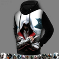 Winter Fashion 3D Printed Pullover Coat Assassins Creed Hoodie Jackets Assasins Creed Sweatshirt Fleece Lined Design