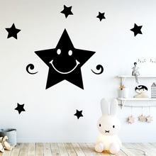 Beauty Stars Wall Stickers Self Adhesive Art Wallpaper Removable Vinyl Mural Sticker Murals