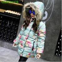 2017 Girls Coat Jacket Winter Jackets Down Girl Kids Clothes Coats Korean Parka Coat For 4