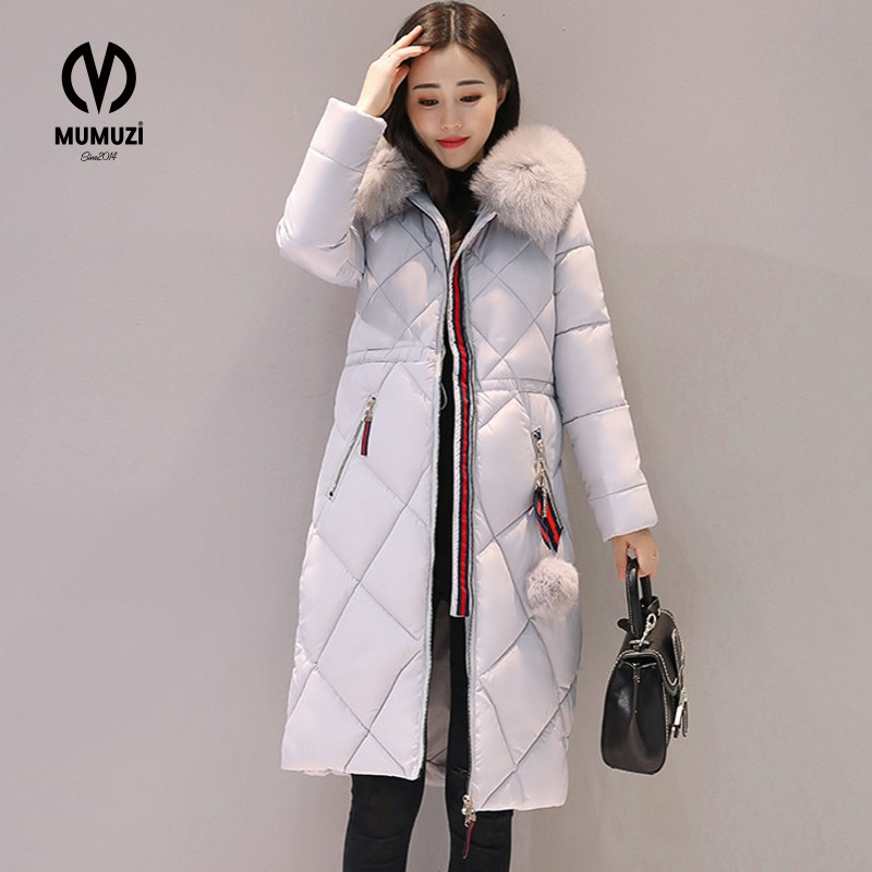 2017 New Women's Down Jacket Real Large Raccoon Fur Collar Hooded Winter Coat Medium Long Slim Parkas Thickening Female Outwear 2017 winter new clothes to overcome the coat of women in the long reed rabbit hair fur fur coat fox raccoon fur collar