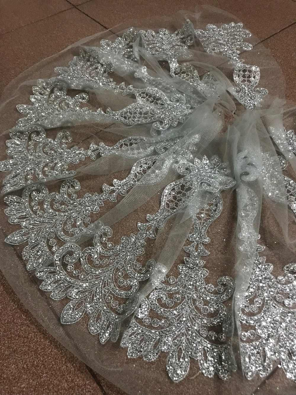 Detail Feedback Questions about 10y glued glitter lace fabric on ... a235cbd3989a