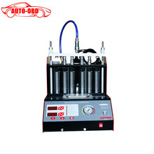 Newest CT200 6 4 cylinder Car Motorcycle Auto Ultrasonic Injector Cleaning Tester machine 220 110V Better