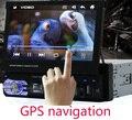 Одноместный 1 ДИН Dvd-плеер Автомобиля авторадио GPS WIN8 UI Сенсорный Стерео Радио автомобильный + бесплатный GPS карта