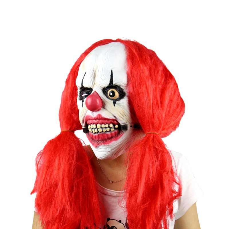 Maschere di Halloween Clown Zombie Spaventoso Maschera In Lattice Del Partito Terror Devil Ghoul Predator Skull Realistico Per Carnaval di Pasqua