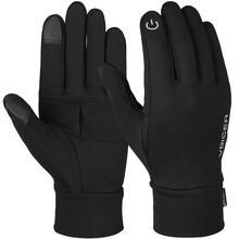 Vbiger унисекс Зимние перчатки мягкие спортивные противоскользящие перчатки для сенсорного экрана теплые текстовые перчатки Светоотражающие перчатки с принтом