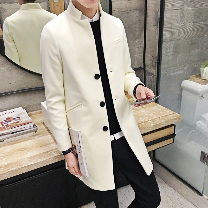 Autumn Winter 2018 New Men S Fashion Boutique Slim Leisure Station Collar Style Trench Coats High -Grade Business Overcoat