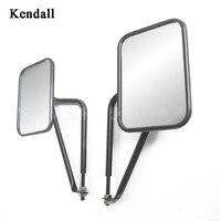 Hinge Side Mirrors Square Doorless Rear view Mirrors for Wrangler TJ JK JL