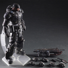 27cm Play Arts Kai PA Marcus Fenix Game Gears of War 3 War Machine Action Figure Collection Model Toy Free Shipping