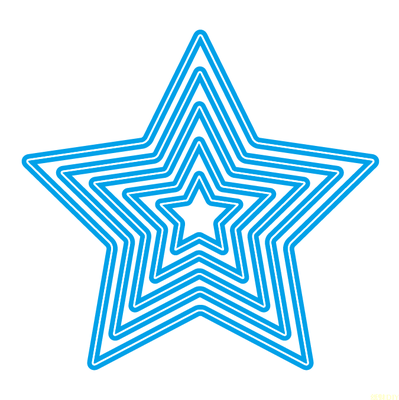 Five-pointed star Metal Die Cutting Scrapbooking Embossing Dies Cut Stencils Decorative Cards DIY album Card Paper Card Maker polygon hollow box metal die cutting scrapbooking embossing dies cut stencils decorative cards diy album card paper card maker