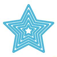 Five Pointed Star Metal Die Cutting Scrapbooking Embossing Dies Cut Stencils Decorative Cards DIY Album Card