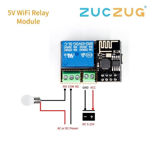 ESP8266 ESP-01S 5 V módulo de relé WiFi cosas interruptor de Control remoto de hogar inteligente para la aplicación de teléfono Arduino ESP01S WIFI inalámbrico módulo