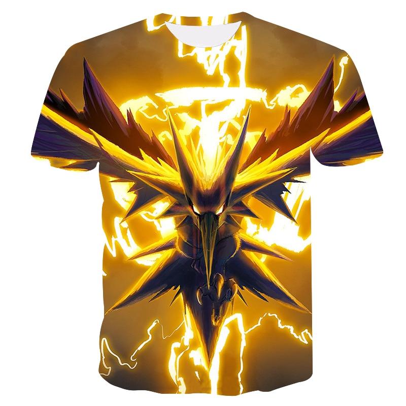 Pokemon Casual 3D Pokemon Harajuku T-Shirts For Men Clothing 2019 Short Sleeve Kpop T-shirt Tops Corrective Hip Hop Plus Sizes