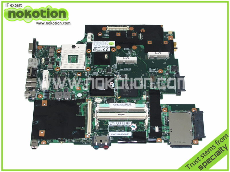 NOKOTION 63Y1421 63Y1426 Laptop Motherboard for Lenovo Thinkpad T500 IBM DDR3 GM45 15.4'' Mainboard Mother Boards Full Tested nokotion sps v000198120 for toshiba satellite a500 a505 motherboard intel gm45 ddr2 6050a2323101 mb a01