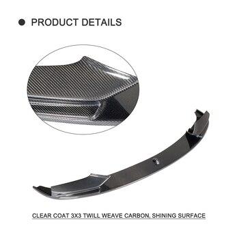 Rennsticker Für Autos | Carbon Fiber Car Front Bumper Lip Spoiler Für BMW 5 Series F10 F11 F18 M Sport 2013-2016 Stoßstange Lip Diffusor Auto Aufkleber