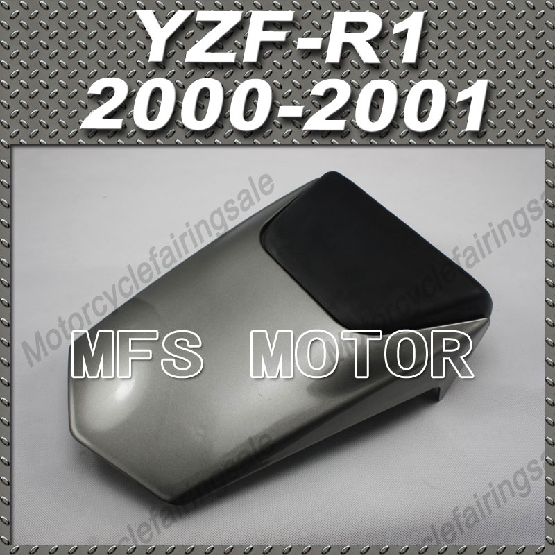 New Motorcycle Rear Pillion Gray Injection ABS Seat Cowl Cover For Yamaha YZF-R1 2000-2001