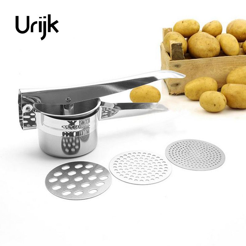 Urijk Potato Mashers Ricers Kitchen Cooking Tools Pressure Disks Vegetable Press Maker Garlic Presser Fruit Vegetable Tools