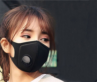 Anti Dust Mask Anti PM2.5 Pollution Face Mouth Respirator Black Breathable Valve Mask Filter Mouth Cover for women men