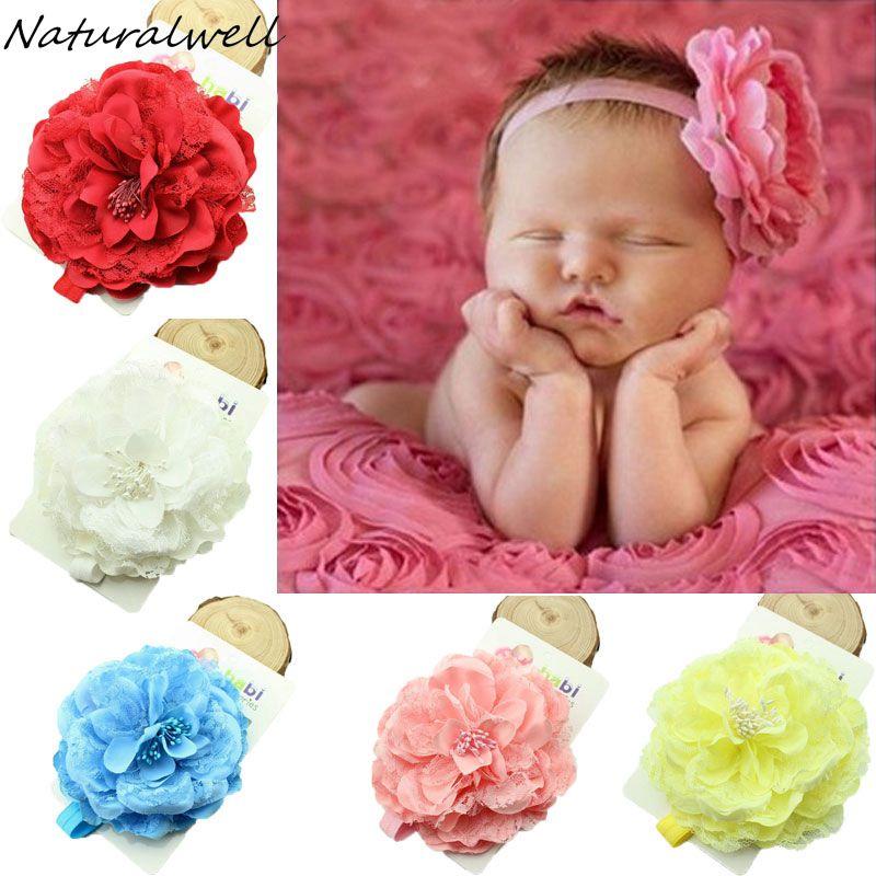 Fashion Head Wrap Baby Rabbit Ears Headband Hairband Turban Peony Flower