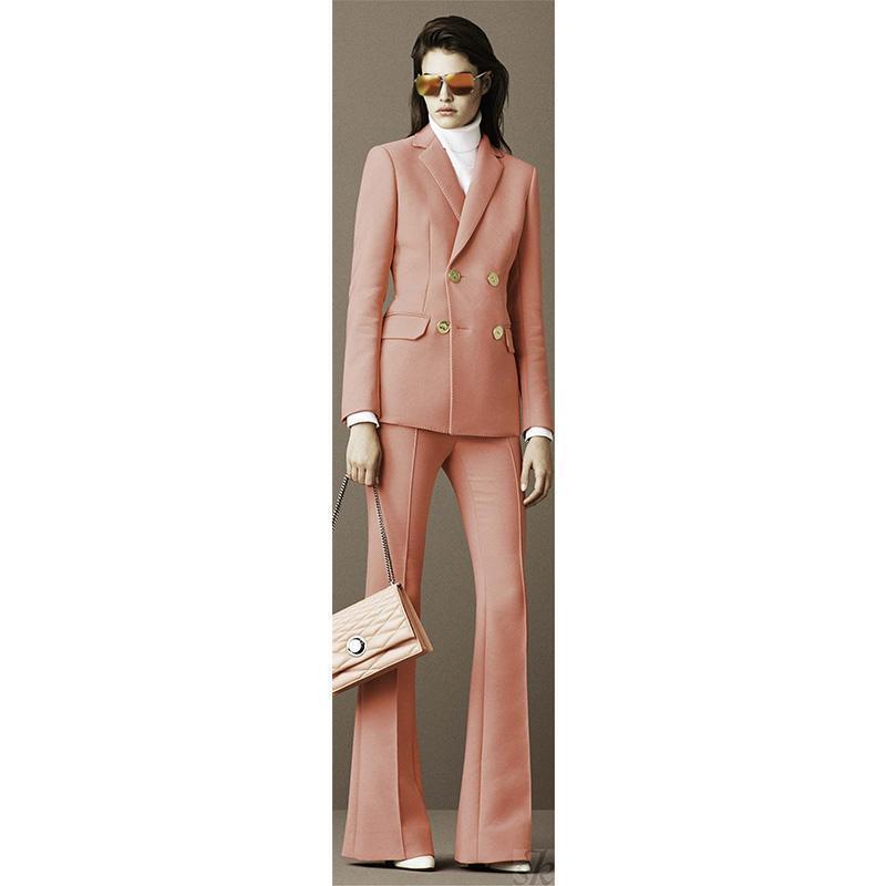 womens formal wear pantsuits Jacket+Pants 2 Piece Women Business Suits Office Female Uniform Ladys Set Custom