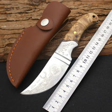 New Survival Knife BROWNING Fixed 440 Steel Blade Knife Wood Handle Huntting Tactical Knives Camping Outdoor EDC Tools y119