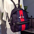 Oxford cloth with leather leather shoulder bag 2016 new Korean fashion backpack stamp 88018