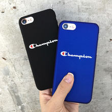 SZYHOME Phone Cases For iPhone 5 5S SE 6 6s 7 Plus Case Fashion Black Blue Champion Plastic For iPhone 7 Mobile Phone Cover Case