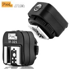 PIXEL TF 321 Flash Adapter TTL PC Port Hot Shoe konwerter dla Canon 5D Mark III 70D 60D 100D 700D 650D 600D 550D 500D 6D 430EX