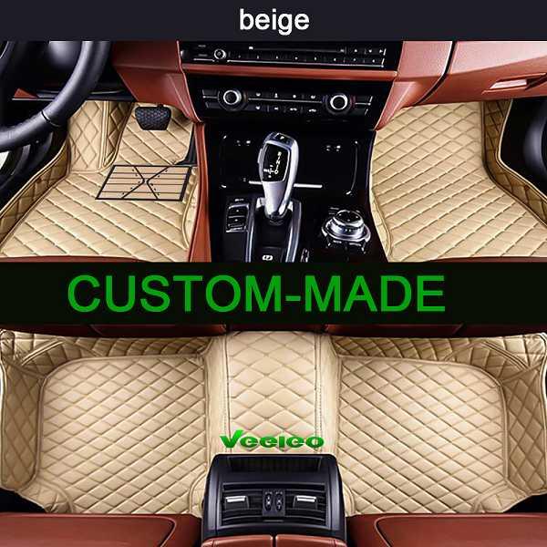 For Porsche Cayenne 2006~2018 leather Car Floor Mats Waterproof Mat