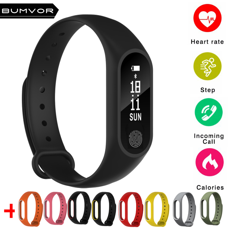 2018 New Smart Band M2 Bluetooth Smart Bracelet Heart Rate Monitor Smartband Fitness Tra ...