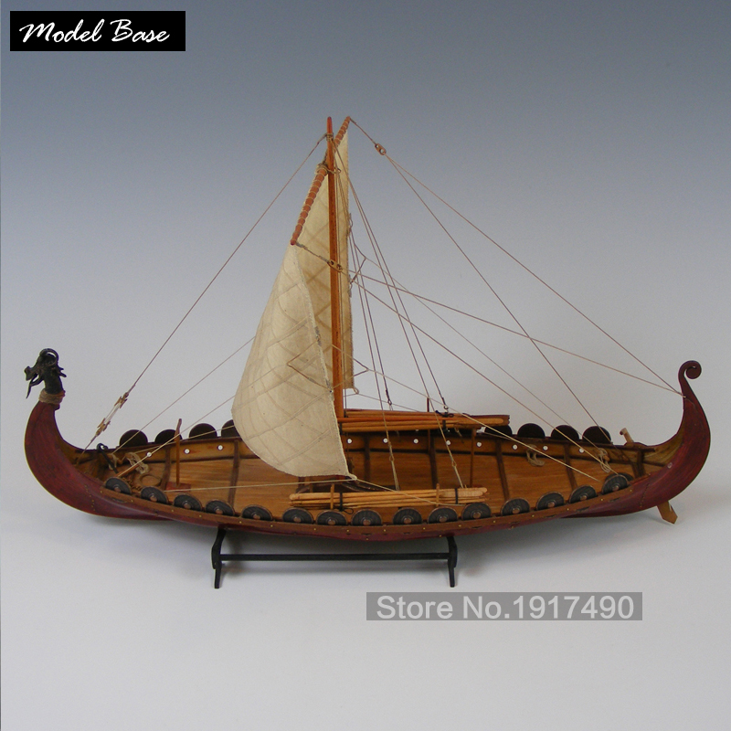 Viking Ship wooden boat model packages diy pirate ship model
