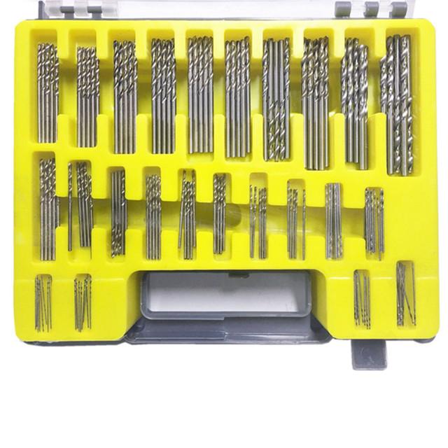 Micro Bit Twist Drill Set Mini HSS Drill Precision With Plastic Case150pcs 0.4mm-3.2mm HSS