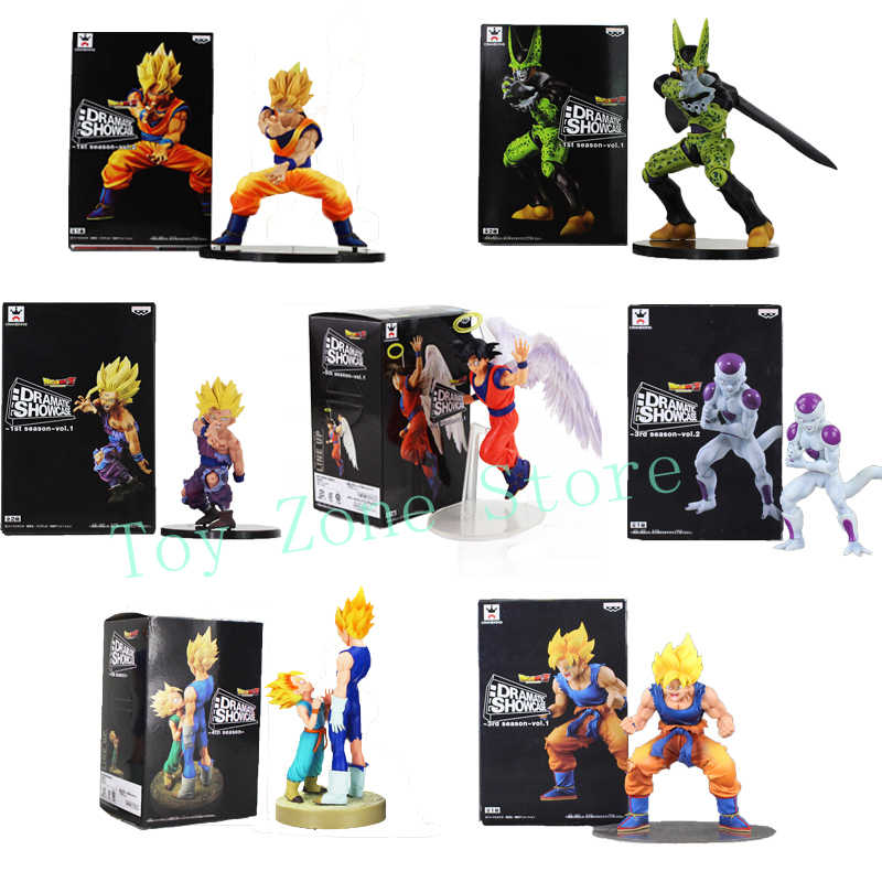 Dragon Ball Z Figura DBZ Gohan Goku Vegeta Trunks Frieza Celular Vitrine Dramática Collectible Modelo Brinquedos