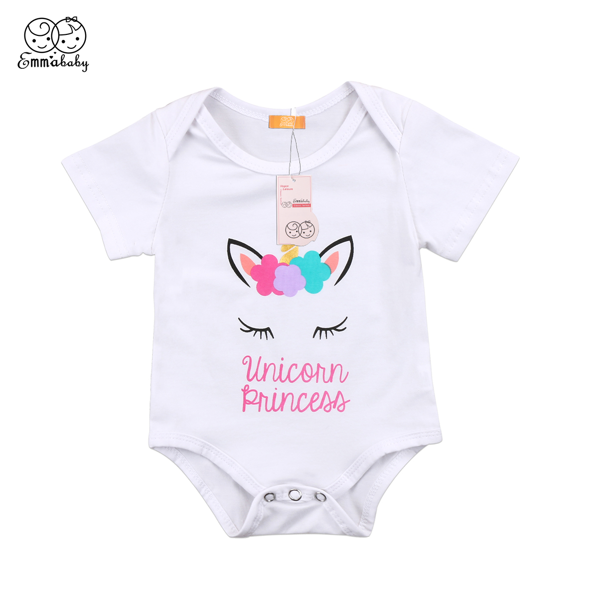 Bodysuits Girls' Baby Clothing 2018 Newborn Baby Girl Letter Print Short Flying Sleeves Bodysuit Jumpsuit Outfits Sunsuit Cute Clothes