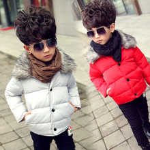 Winter children's clothing child wadded jacket outerwear thickening male female child child cotton-padded jacket cotton liner