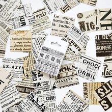 45Pcs/box Vintage English Newspaper Stickers Scrapbooking Creative DIY Bullet Journal Decorative Adhesive Labels Cute Stationery
