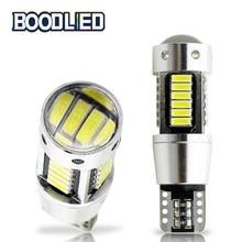 Лампа W5W T10 светодиодный 4014 30 SMD линзы 194 168 светодиодный Canbus без ошибок Автомобильный светодиодный светильник светлый купол светильник DC 12V С...
