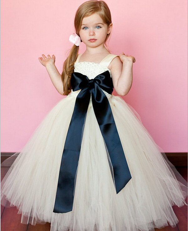 Flower Girl Dresses for weddings Elegant Sweet Bow Ball Gown ...