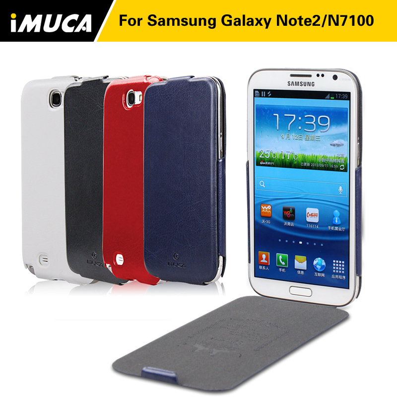 High Quality Flip PU Leather Case For Samsung galaxy note 2 N7100 Cover for Samsung Note 2