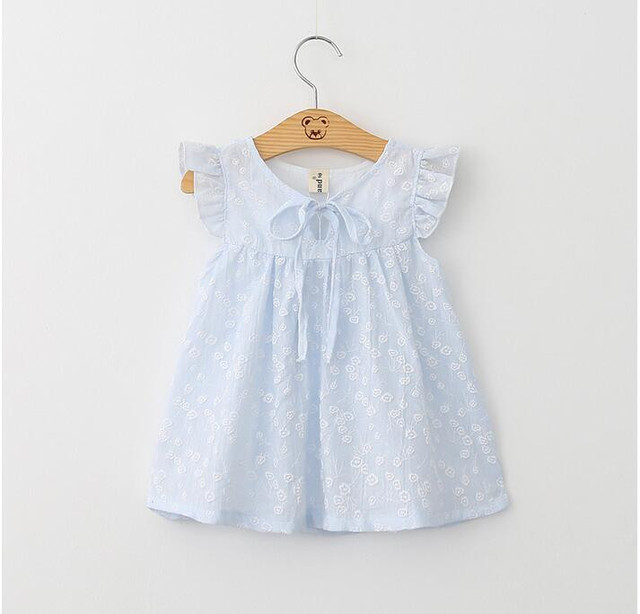 9462d47bb YB60405132 Retail 2016 New Summer Fashion Baby Girls Dresses Printing Bow  Ruffles Girl Dress Princess Girl Clothes Lolita-in Dresses from Mother & ...