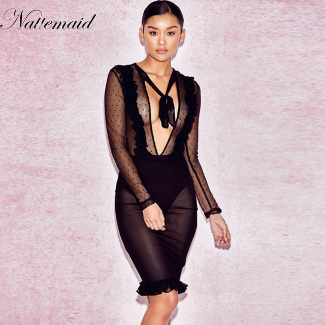 db9b7d2b31d5 NATTEMAID Commemorative Bell Sleeve Dress femininos Crochet Floral Lace  embroidery dresses Boho People Style Women Sexy