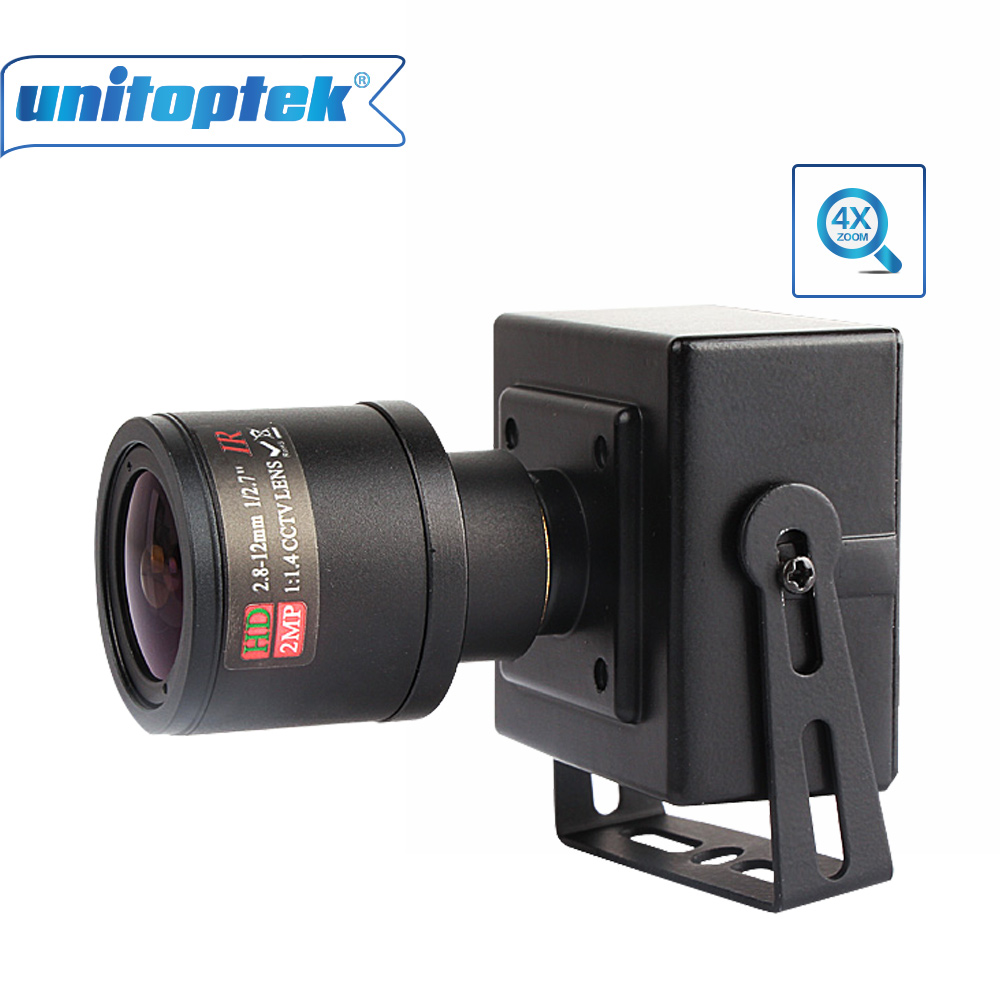 Full HD 1080 p 2.0MP 25fps mini cámara IP ONVIF 2.8-12mm lente de zoom varifocal manual P2P enchufe y jugar con soporte PC moblie ver