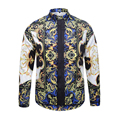 2016 New summer Fashion Brand Men Clothes Slim Fit Men Long Sleeve Shirt Men printing harajuku Casual Men Shirt Plus Size M-XXL
